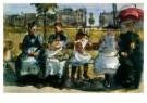 Isaac Israels (1865-1934)  -  Op de bank - Postcard -  A8982-1