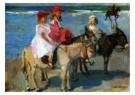 Isaac Israels (1865-1934)  -  Kinderen op ezeltjes - Postcard -  A8984-1