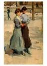Isaac Israels (1865-1934)  -  Twee meisjes - Postcard -  A8994-1