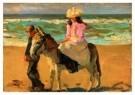 Isaac Israels (1865-1934)  -  Meisje op ezel - Postcard -  A8995-1