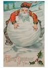 A.N.B.  -  Kerstman ligt op een grote sneeuwbal - Postcard -  A90833-1