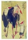 Theo van Hoytema 1863-1917  -  Wandelende ooie - Postcard -  A9087-1
