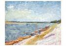 Vincent van Gogh (1853-1890)  -  River Landscape with Rowing Boats on Shore, 1887 - Postcard -  A91346-1