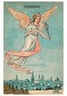 A.N.B.  -  Vredesengel vliegt boven een dorp - Postcard -  A91543-1