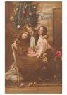 A.N.B.  -  Drie kinderen in een interieur met kerstversiering - Postcard -  A92051-1