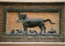 -  Gevelsteen met kat en muis - 17e eeuw - Postcard -  A9262-1