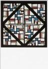 Theo van Doesburg (1883-1931)  -  Glas in loodcompositie III, 1917 - Postcard -  A9334-1