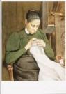 Martinus van Regteren 1866-190 -  De echtgenote van de kunstenaar aan het handwerken - Postcard -  A9363-1
