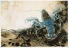 G.W.Dijsselhof (1866-1924)  -  Blauwe Kreeft, ca. 1890/95 - Postcard -  A9365-1
