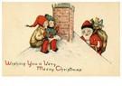 A.N.B.  -  Kerstman klimt het dak op met cadeaus - Postcard -  A94425-1