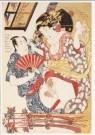Utagawa Kunisada (1786-1864)  -  Haru no tanoshimi - de geneugten van de lente, jap - Postcard -  A9637-1