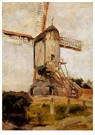 Piet Mondrian (1872-1944)  -  Post Mill at Heeswijk, 1904 - Postcard -  A96440-1