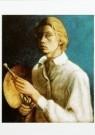 David Kouwenaar (1921-2011)  -  Zelfportret (met palet), 1938 - Postcard -  A9769-1