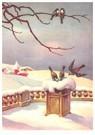 A.N.B.  -  Vogels in een sneeuwlandschap - Postcard -  A97883-1