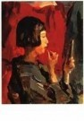 Isaac Israels (1865-1934)  -  Japans meisje met l - Postcard -  A9822-1