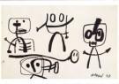 Karel Appel (1921-2006)  -  Zonder titel, 1948 - Postcard -  A9870-1