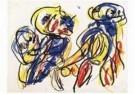 Karel Appel (1921-2006)  -  Les amoureux - Postcard -  A9876-1