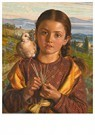 William Holman Hunt (1827-1910 -  Tuscan Girl Plaiting Straw, 1869 - Postcard -  A98843-1