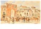 Konstantin Makovsky (1839-1915 -  An Old Town Square - Postcard -  A99151-1