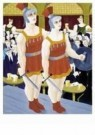 Ferdinand Erfmann (1901-1968)  -  Cafe met twee gladi - Postcard -  A9934-1