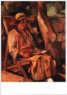 Matthieu Wiegman (1886-1971)  -  Lezende vrouw - Postcard -  A9959-1