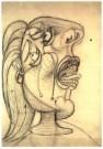 Pablo Picasso (1881-1973)  -  Huilende kop - Postcard -  A9970-1
