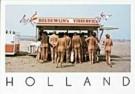 Henk van der Leeden (1941)  -  Fish Stand on nudist beach, Holland - Postcard -  AU0598-1
