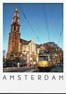 Igno Cuypers  -  Westerkerk and Tram 17, Amsterdam - Postcard -  AU0710-1