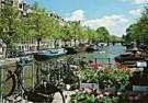 Tim Killiam (1947-2014)  -  Utrechtsestraat, bridge over the Keizersgracht - Postcard -  AU0747-1