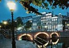 Igno Cuypers  -  Evening on the canals, Amsterdam / Hijgend Hert - Postcard -  AU0776-1