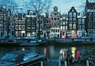 Igno Cuypers  -  Amsterdam by night / Hijgend Hert - Postcard -  AU0853-1
