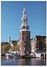 Igno Cuypers  -  Montelbaantoren on the Oude Schans, Amsterdam - Postcard -  AU1015-1