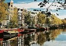 Igno Cuypers  -  Houseboats on the Prinsengracht, Amsterdam - Postcard -  AU1031-1