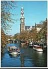 David Warren  -  The Prinsengracht, Amsterdam. In the background, t - Postcard -  AU1035-1