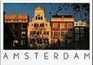 Tim Killiam (1947-2014)  -  Gleaming Facades, Keizersgracht, Amsterdam - Postcard -  AU1037-1