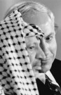 Stephen Jaffe  -  Netanyahu and Arafat - Postcard -  B2527-1