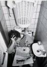 Chantal Sion (1969)  -  Man met krant op wc - Postcard -  B2611-1