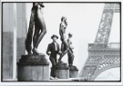 Marc atze Jacquemin  -  Mime player near the Eiffeltower - Postcard -  B2826-1