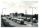 P.D. van der Poel (1919-2004)  -  Stationsplein, Alkmaar - Postcard -  B3721-1