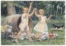 Cornelis Jetses (1873-1955)  -  Uit: Ot en Sien, Voor scholen in Indie - Postcard -  C11608-1