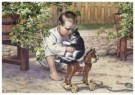 Cornelis Jetses (1873-1955)  -  Uit: Ot en Sien, Voor scholen in Indie - Postcard -  C11615-1