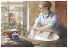 Cornelis Jetses (1873-1955)  -  Uit: Nog bij moeder - Postcard -  C11631-1