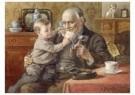 Cornelis Jetses (1873-1955)  -  Uit: Nog bij moeder - Postcard -  C11636-1