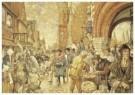 Cornelis Jetses (1873-1955)  -  Schoolplaat, een stad in de middeleeuwen - Postcard -  C11637-1