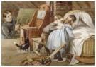 Cornelis Jetses (1873-1955)  -  Uit: Nog bij moeder - Postcard -  C11640-1