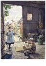 Cornelis Jetses (1873-1955)  -  Uit: Buurtkinderen - Postcard -  C11675-1
