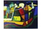 Jan Hopman  -  Dutch farmhouses at twilight - Postcard -  C11678-1