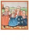 Rie Cramer (1887-1977)  -  vier kinderen in Oud-Hollands klederdracht - Postcard -  C11764-1