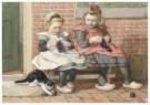 Cornelis Jetses (1873-1955)  -  Uit: Nog bij moeder - Postcard -  C3392-1