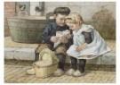 Cornelis Jetses (1873-1955)  -  Uit: Nog bij moeder - Postcard -  C3393-1